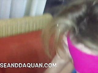 Blonde fetish blindfolded Blindfolded 18yr old fucks and sucks a big black cock