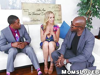 Video interracial big tittys - Hot blonde milf julia ann hammered in threesome by bbcs