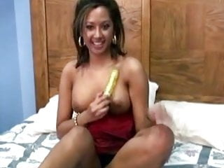 Hot latin twink Hot latin girl masturbates with dildo