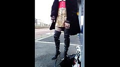 Sophie french tranny exhib on the street