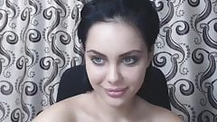Amazing busty girl Alesia spreading her ass on cam