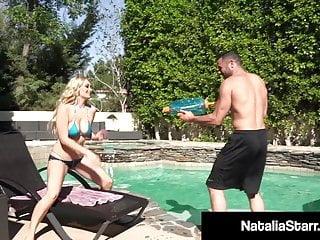 Female orgasm liquid - Cum loving natalia starr showered with liquid man love h20
