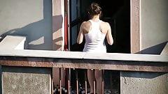 spy balkony neighbor