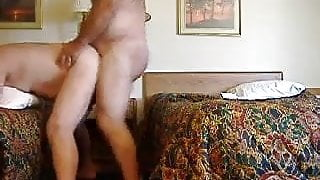 Daddues Fucking in a Hotel Room
