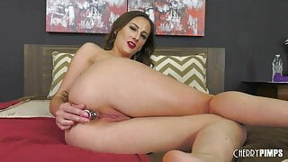 Big Tits Brunette MILF Solo With Buttplug – Pussy Masturbation