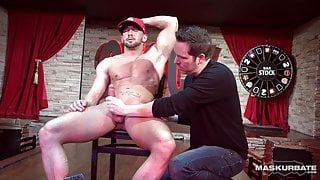 Muscular Male Stripper Shows Off Thick Cock - Maskurbate