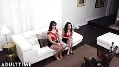 Sleazy AF Guy Tricks Babes into Fake Lesbian Casting Sex