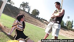 AdultMemberZone - Cute cheerleader drains the coach's balls