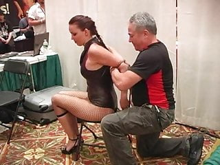 Transgender conventions - Girl tied and struggles at convention two
