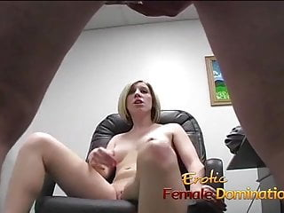 Slut office boss Blonde office slut dominates her future bosss cock until