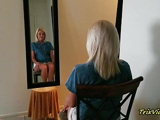 The erotic mirror - The erotic blonde in the mirror with ms paris rose