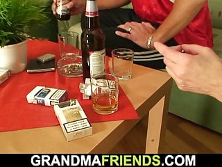 Very old grandmother sex porn Football fans fuck very old blonde grandmother