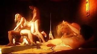 British Savanah Gold & Cindy in a group sex scene