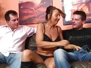 Fuck mature movie young - Two german mans fuck mature woman