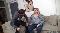 Big booty plumper sucks and rides