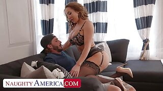 RICHELLE RYAN FUCKED BY LINGERIE DELIVERY GUY ON THE SOFA