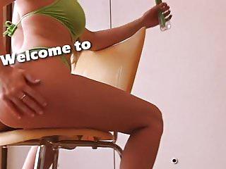 Bikini over weight Big ass and busty teen squating all over in bikini