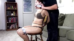 Rachel adams gagged and hogtied with duct tape