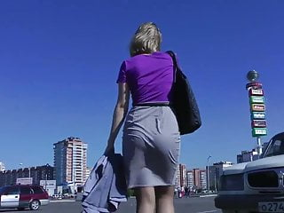 Big asses in skirts Amazing skirt booty walking