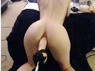 Anal lube numbing Hot milf ass fucked by machine no lube