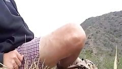 Hiker stops for a wank