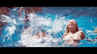 Suzanne Somers Topless Boobs Pool Scene from Magnum