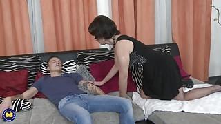 Mom wake up and seduce lucky step son