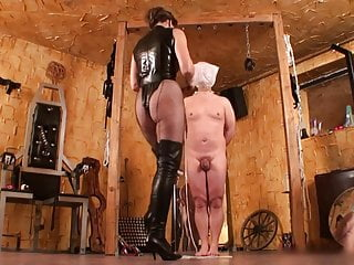 Kicking bdsm Beautiful mistress kicks slave
