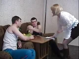 Hairy special 2 Stp3 their mom gives them special maid service