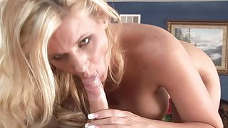 POV Blowjob and Handjob combo from hot mature MILF mom