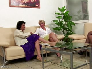 Pussy eating sharing video Old grannies sharing hot babe lesbian sex