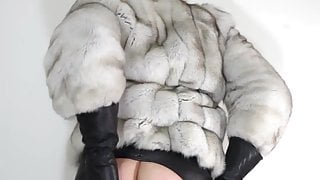Leather and fox fur