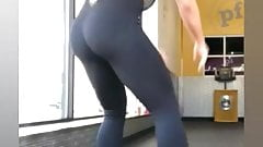 WWE - Mandy Rose with her awesome ass in black pants at gym
