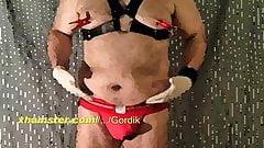 Chubby Bear Nipples Belly Dildo Jockstrap Cum