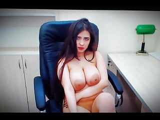 Hairs on breast Big breasts beauty with long hair