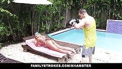FamilyStrokes - горячая сводная сестренка не может удержаться от траха с братаном