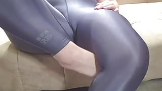 Foot Fetish and Spandex Tease