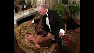 ImageSet: JULIE SILVER in black stockings gets fucking hard