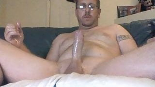 Oiled up Cock Stroking Session