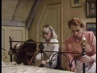 Woman in silk satin lingerie - Cream silk satin lingerie