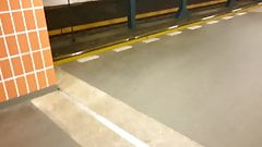 Public jerk n cumming in Subway station