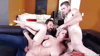 PORNSTARPLATINUM – Busty MILF Dee Williams in Threesome Fuck