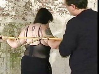 Nettled penis Plumper slave tortured with nettles