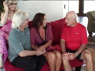 Young gay blonde studs - Mature wives with old wrinkly pussies fucked on a couch by young stud