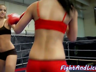 Amateur trib video Lesbian eurobabes tribbing after wrestling