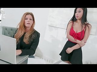 Mom blindfolded and fucked by son - Super sweet natural tits milf doggy fucked by son