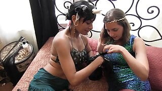 Missy Minks and Beretta James have sweet lesbian fuck with