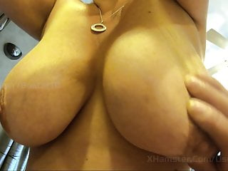 For your veiwing pleasure maine Wifes big saggy natural tits - for your wanking pleasure 2