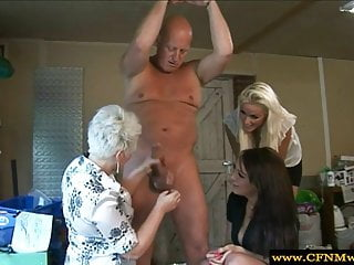 Cfnm humiliation porn Cfnm femdoms sucking to humiliate their sub