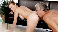 DADDY4K. Victoria's dirty dream came true with her bf dad